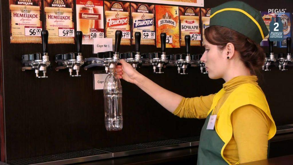 Разлив пива в розничной точке ИП