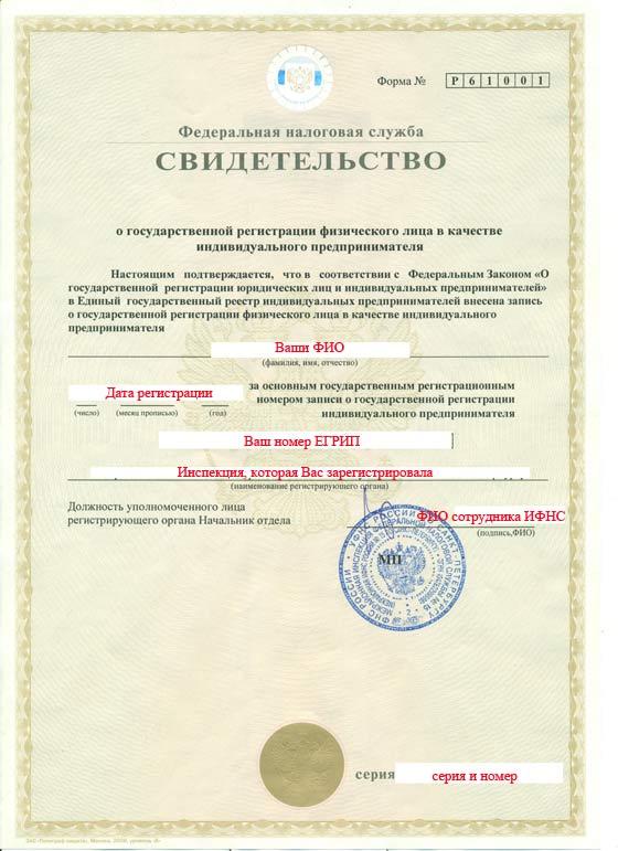 Потеряно свидетельство регистрации ип что делать регистрация книги кассира операциониста для ип